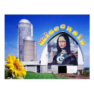 Granero de Mona Lisa, Wisconsin Tarjeta Postal