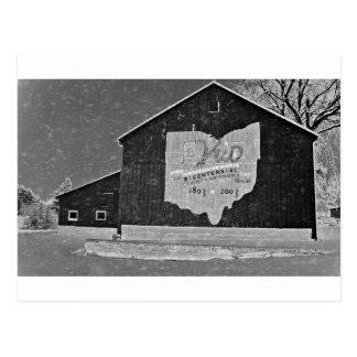 Granero de Ohio en invierno Postales