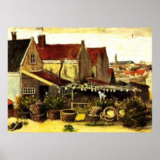 Granero de sequía de los pescados de Van Gogh, Póster