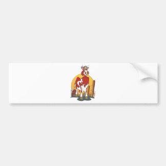Granero del jersey de Bull del dibujo animado Etiqueta De Parachoque