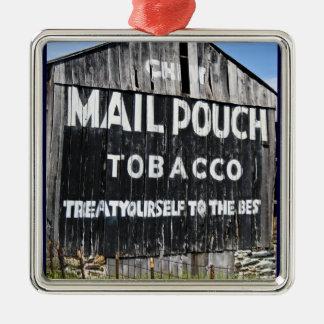 Granero del tabaco de la bolsa de correo del Chew Adorno Cuadrado Plateado