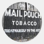 Granero del tabaco de la bolsa de correo del Chew Etiquetas Redondas