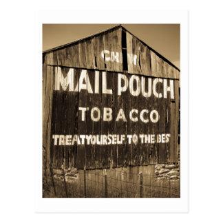 Granero del tabaco de la bolsa de correo del Chew Tarjeta Postal