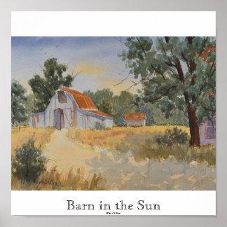 Granero en el Sun impresión de Kevin E Slater Posters