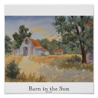 Granero en el Sun impresión mate de Kevin E Slat Poster