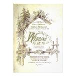 Granero en las invitaciones rústicas del boda de m