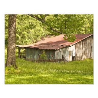Granero en verde de la primavera - Tennessee del v Fotografía