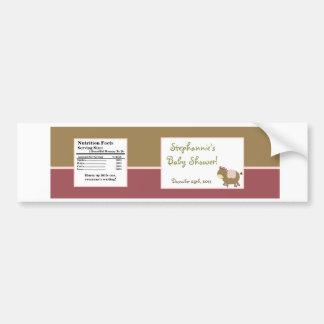 Granero femenino del rosa de la granja de Abby de  Etiqueta De Parachoque