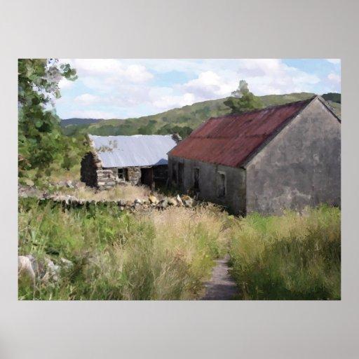 Granero irlandés de los alfareros póster