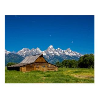 Granero magnífico de Teton Tarjetas Postales