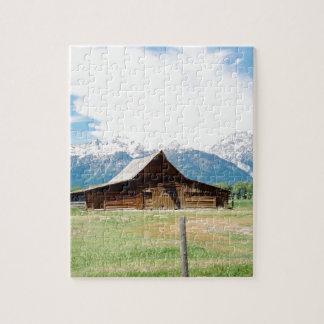 Granero mormón puzzle con fotos
