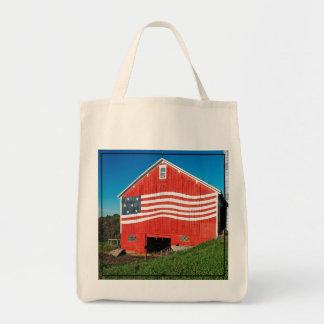 Granero patriótico bolsa tela para la compra