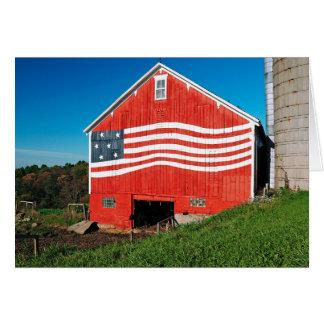 Granero patriótico tarjeta de felicitación
