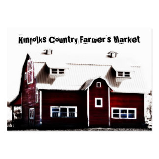 Granero rojo del país del mercado del granjero tarjeta de visita