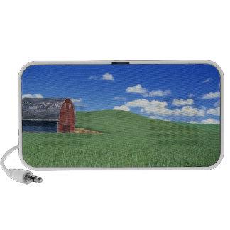 Granero rojo en el campo de trigo, el condado de W Altavoces