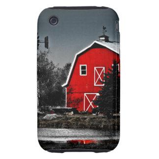 Granero rojo espectacular tough iPhone 3 protectores