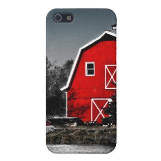 Granero rojo espectacular iPhone 5 protectores