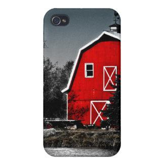 Granero rojo espectacular iPhone 4/4S funda