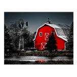 Granero rojo espectacular postal