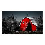 Granero rojo espectacular plantillas de tarjeta de negocio