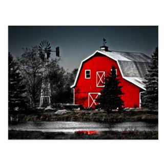 Granero rojo espectacular tarjetas postales