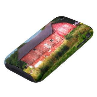 Granero rojo intrépido grande funda though para iPhone 3