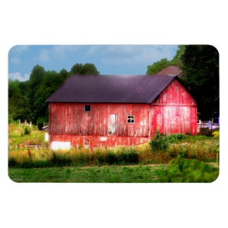 Granero rojo intrépido grande iman de vinilo