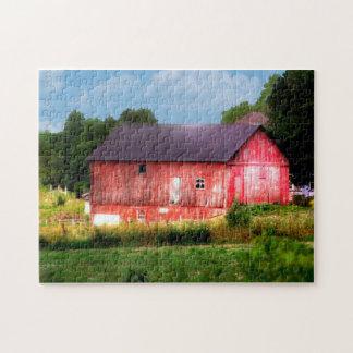 Granero rojo intrépido grande puzzle