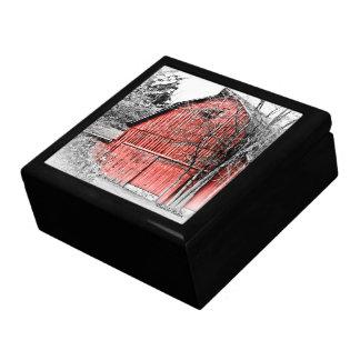 Granero rojo magnífico cajas de recuerdo