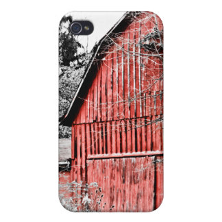 Granero rojo magnífico iPhone 4 cárcasa