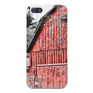 Granero rojo magnífico iPhone 5 cobertura