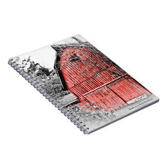 Granero rojo magnífico libro de apuntes