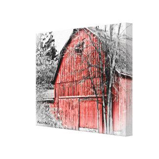 Granero rojo magnífico lona estirada galerias