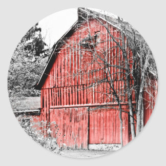 Granero rojo magnífico pegatina redonda