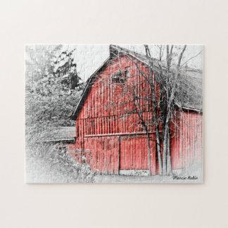 Granero rojo magnífico puzzles con fotos