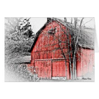 Granero rojo magnífico tarjeta pequeña