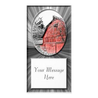 Granero rojo magnífico tarjetas fotográficas