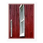 Granero rojo tarjeta postal