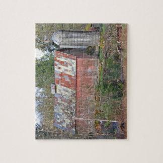 Granero rojo viejo puzzles con fotos