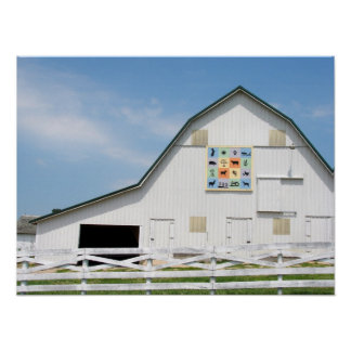 Granero rural del animal de Iowa Impresiones
