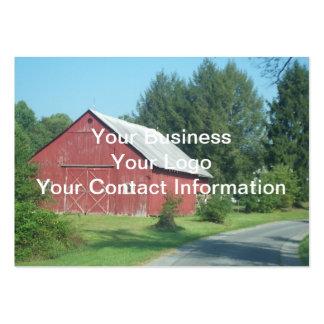 Granero rural rojo tarjeta de negocio