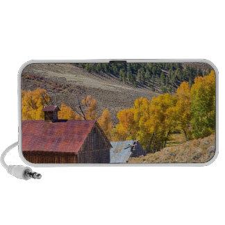 Granero rural rústico de Colorado con colores del Portátil Altavoces