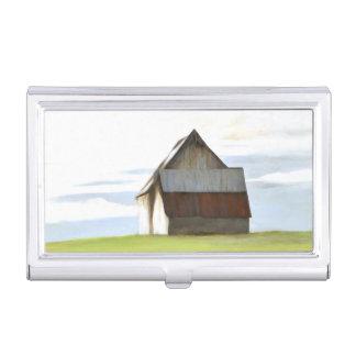 Granero viejo rústico cajas de tarjetas de visita