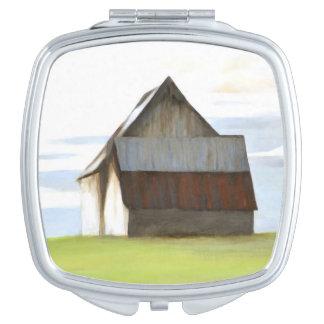 Granero viejo rústico espejos de viaje