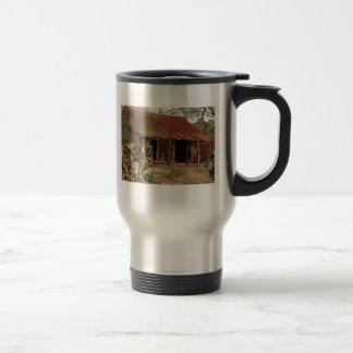 granero viejo taza de viaje de acero inoxidable