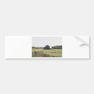 Granero y tierras de labrantío de Arkansas Pegatina Para Auto