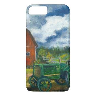 Granero y tractor viejo funda iPhone 7 plus