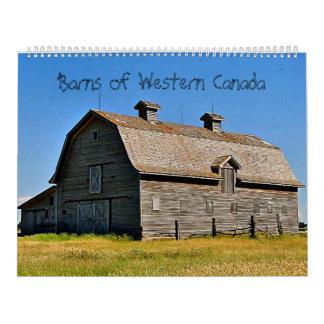 Graneros de Canadá occidental Calendario De Pared