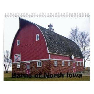 Graneros de Iowa del norte Calendario De Pared
