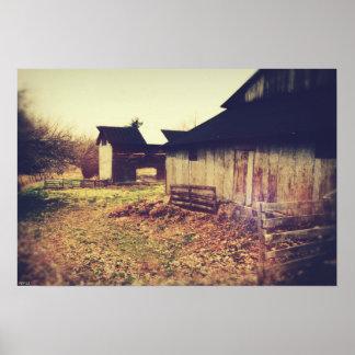 Graneros de la granja del vintage impresiones